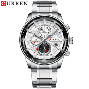Image 2 - CURREN Marke Männer Sport Uhren Kausalen Edelstahl Band Armbanduhr Chronograph Auto Datum Uhr Männlich Relogio Masculino