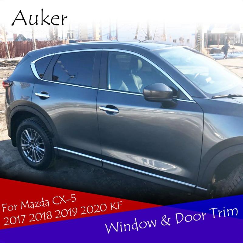 Отделка окон автомобиля, боковые отделочные полосы для двери, украшение для внешней отделки, хромированный декоративный Стайлинг автомобиля для Mazda 2017 2018, CX 5 CX5 KF|Хромирование| | АлиЭкспресс