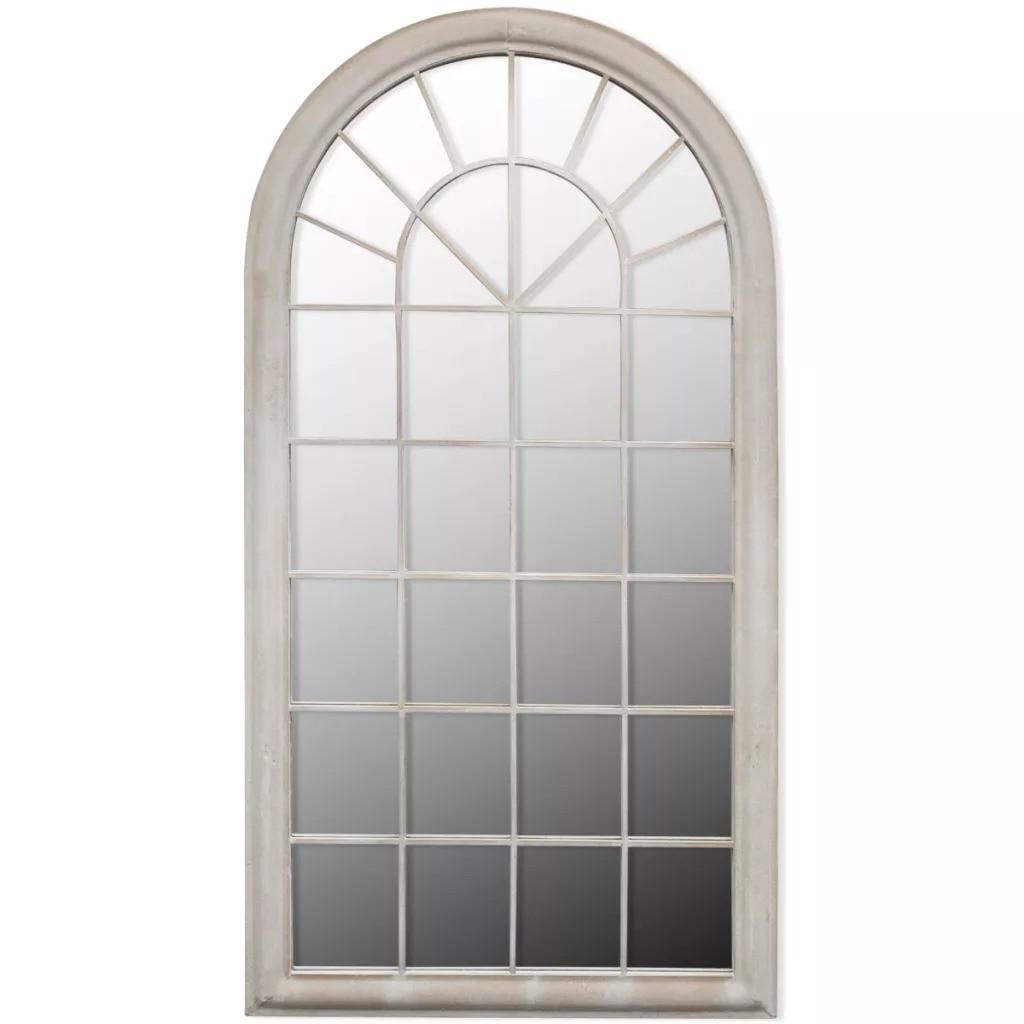 VidaXL Rustico Arco Giardino Specchio 116x60cm Per Uso Sia Interno che Esterno di Ferro E Materiale di Vetro Resistente giardino Specchio Cancello V3 - 2