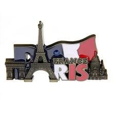 Frankreich Paris Wahrzeichen Touristischen Reise E iffel Turm Souvenir 3D Kühlschrank Magnet Geschenk Aufkleber Für Home Wand Dekoration