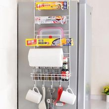 купить Storage Holders On Side of The Refrigerator Kitchen Multifunction Storage Shelf Crack Storage Rack Multi-layer Holder по цене 1548.32 рублей