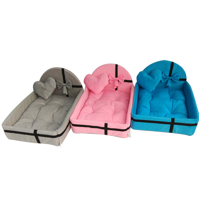 1 pçs cama para animais de estimação cão filhote de cachorro gato destacável ninho macio quente para dormir tapetes de algodão sofá para pequeno cão grande cesta do cão cama para animais de estimação