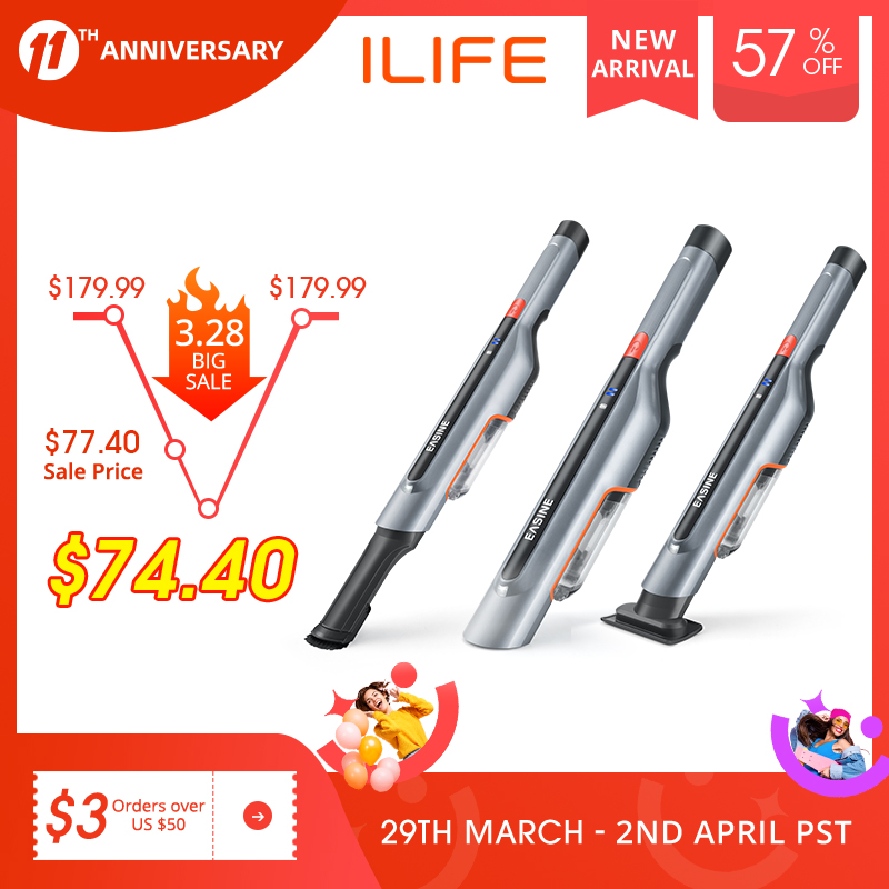 EASINE by ILIFE M50 Handheld Car Vacuum Cleaner – 14,500Pa Powerful Suction,  Type-C & USB Charging, 2 Hours Fast Charge 1