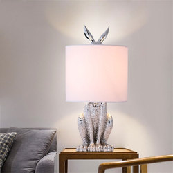 Modern Masked Rabbit Resin Table Lamps Retro Industrial Desk Lights for Bedroom Bedside Study Restaurant Decorative Lights