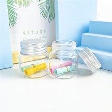 25ml küçük cam konteyner gümüş alüminyum kapaklı Hyaline yeniden kullanılabilir alt şişeler sanat zanaat şişeleri gıda Pot 24 adet