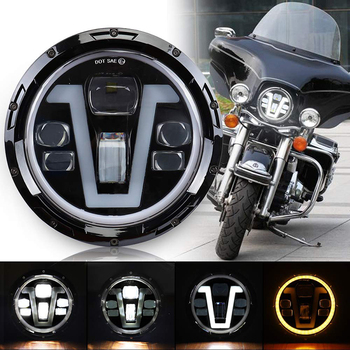 7 inch halo headlight with angle eye for motocycle super bright