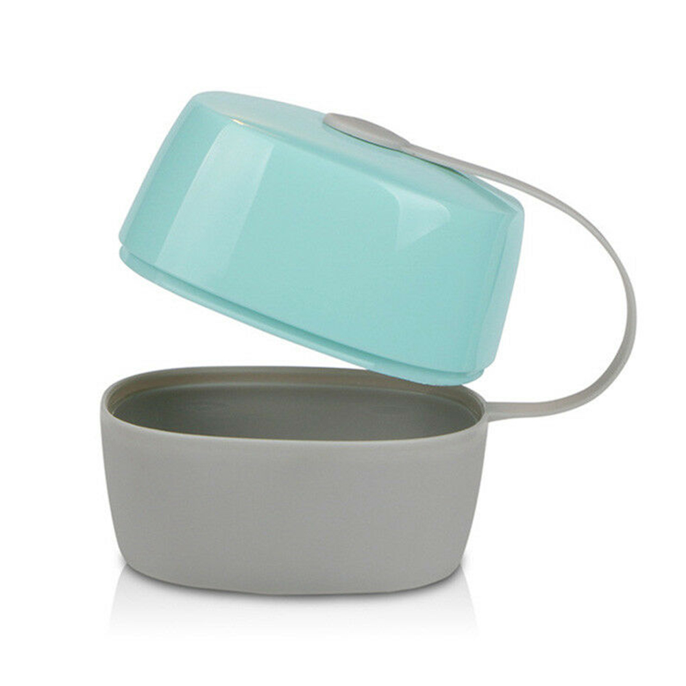 Travel Use Non-toxic Children Round Eco-friendly Pacifier Container Storage Box Home Protection Soother Portable Infant Baby