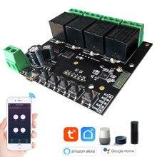4CH WiFi переключатель Tuya умный пульт дистанционного управления беспроводной умный модуль переключателя DIY 4 банды реле Голосовое управление с...