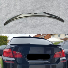 Use For BMW 5 Series F10 Spoiler 2010-- Year Real Glossy Carbon Fiber Rear Wing M4 Style Sport Accessories Body Kit