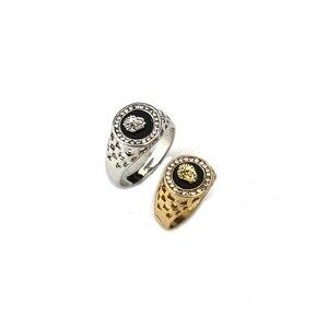 Мужское и женское кольцо в стиле хип-хоп, вечернее кольцо золотистого цвета с головой льва в классическом панк-стиле, Прямая поставка
