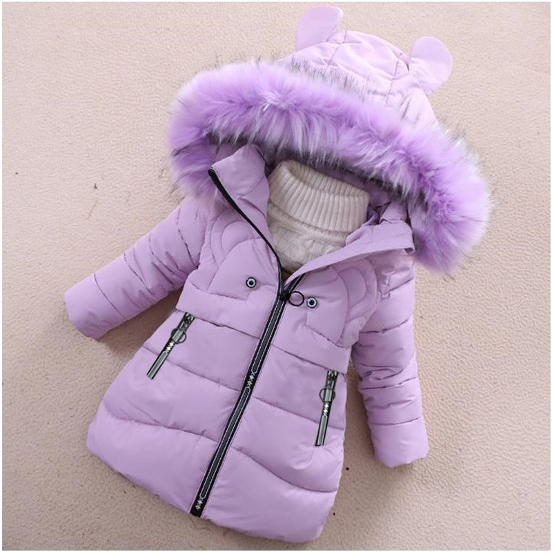 Image 4 - Girls Down Jackets Baby Outdoor Warm Clothing Boys Thick Coats Windproof Children's Winter Jackets Kids Cartoon Winter Outerwear-in Down & Parkas from Mother & Kids