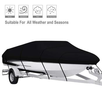 Waterproof 210D Boat Cover Yacht Cover UV Protection Infrared V-shaped Blue Boat Covers Fishing Dust Covers