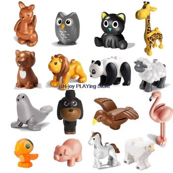 Nowy MOC Animal Series Panda Eagle kangur sowa lew kot pies papuga żyrafa owca Model kreatywne zabawki dla dzieci prezent dla dzieci tanie i dobre opinie 7-12y 12 + y 4-6y CN (pochodzenie) Unisex Mały klocek do budowania (kompatybilny z Lego) AGC11062200801-T001 DW0100 BLOCKS
