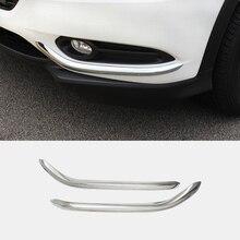 цена на For Honda HRV HR-V Vezel 2014 2015 2016 2017 Accessories ABS Chrome Auto Front Fog Light Lamp Cover Trim Car Styling