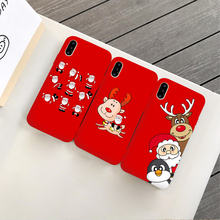 Jamular Christmas day gift phone back cover For iPhone X XS Max XR iphone 6 6s 7 8 plus Cartoon santa claus elk case