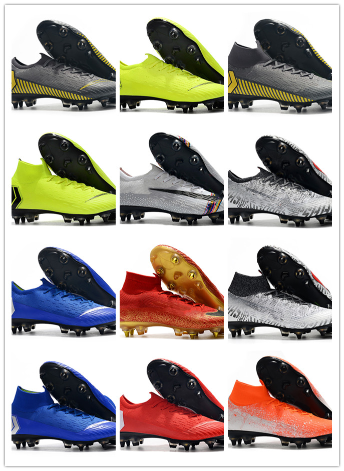 Superfly VI <font><b>360</b></font> Elite FG KJ 6 XII 12 CR7 Mens Soccer Cleats Ronaldo Neymar High Heel Soccer <font><b>Shoes</b></font> ACC Football Boots 6.5-11 image
