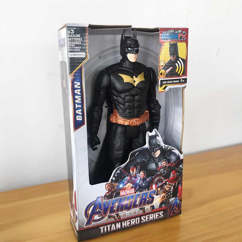 30 センチメートルマーベルアベンジャーズ Endgame Thanos さんスパイダーマンハルクアイアンマンファルコン VenomCaptain アメリカの Thor ウルヴァリンアクションフィギュアおもちゃ人形