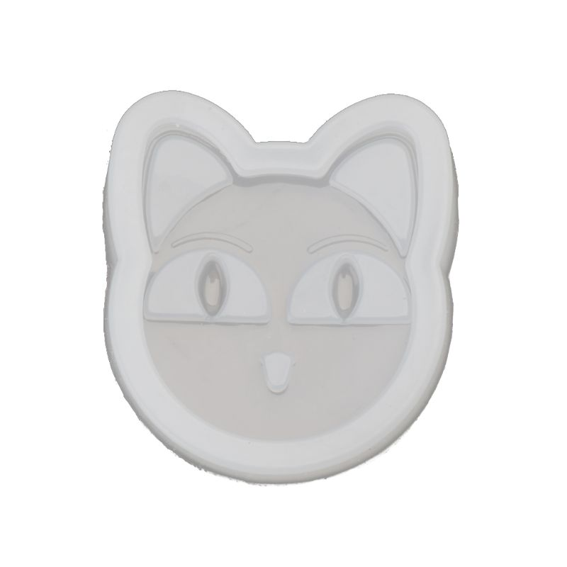 Cartoon Cat Pendant Silicone Mold Epoxy Resin Casting DIY Craft Jewelry Tools