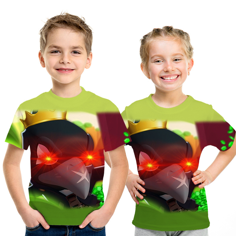 2019 New Shooting Game T-shirt 3D Printed  Boy Girl Funny T-shirts Costume Children Clothing Kids Tees Baby 6 7-8 9-11 12 Year