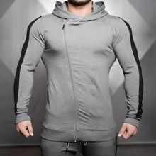 Мужская куртка для бега с длинным рукавом капюшоном куртки на