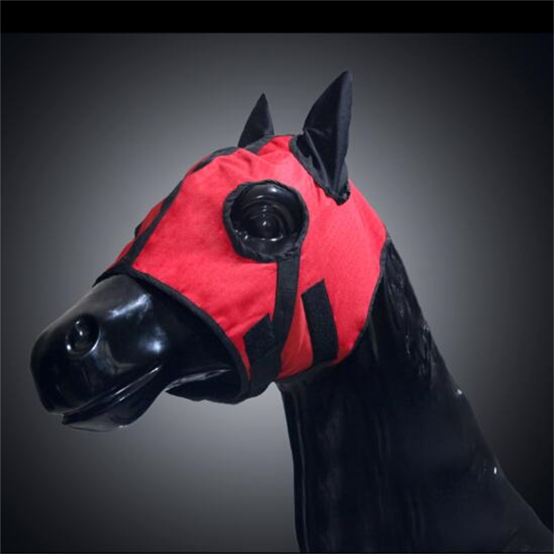 Waterproof Windproof Horse Head Cover Fly Mask Breathable Cotton Horse Eye Mask