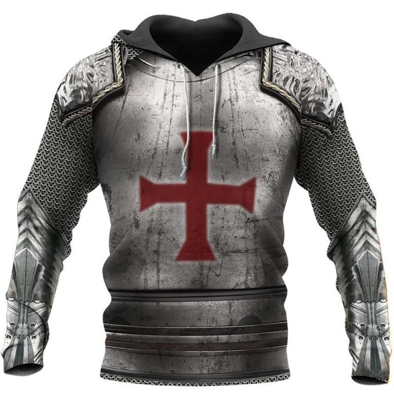Liumaohua Knights Templar 3D Print Hoodies Cavalier Men Harajuku Fashion Hooded Sweatshirt Autumn Hoody Casual Hoodie Tops 0026