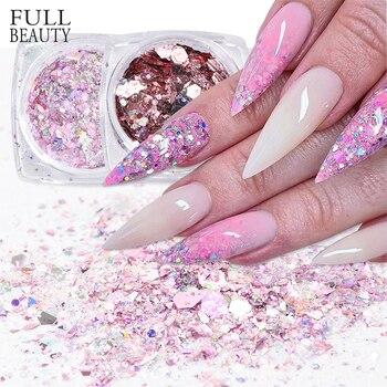1box Mermaid Mixed Glitter Nail Sequin Aurora Hexagon Pink Flakes Spangles Nail Paillette All for Manicure Accessories CHDJ01-12