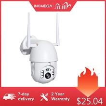 INQMEGA 4X dijital Zoom H.265X 1080p PTZ IP kamera açık hız Dome CCTV güvenlik kameraları WIFI dış IR ev gözetim