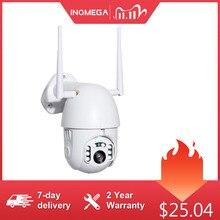 INQMEGA cámara IP con Zoom Digital 4X H.265X 1080p cámara IP PTZ para exteriores, domo de velocidad, cámaras de seguridad CCTV, WIFI, Exterior, IR, vigilancia del hogar