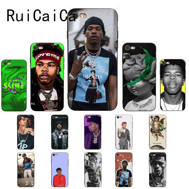 Ruicaica Lil Baby Rapper Custom Foto Soft Phone Case Cover voor iPhone 8 7 6 6S 6Plus X XS MAX 5 5S SE XR 10 Gevallen