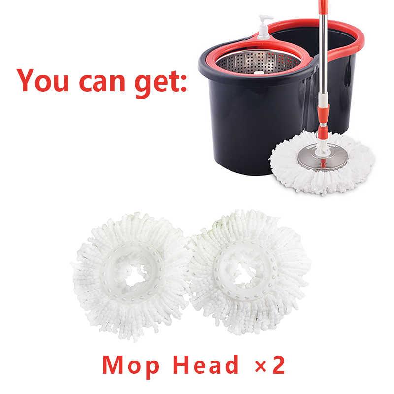 IFun 簡単絞っマイクロファイバースピンモップ & バケツ床洗浄システムダブルドライブステンレス鋼ハンドルと 2 モップヘッド