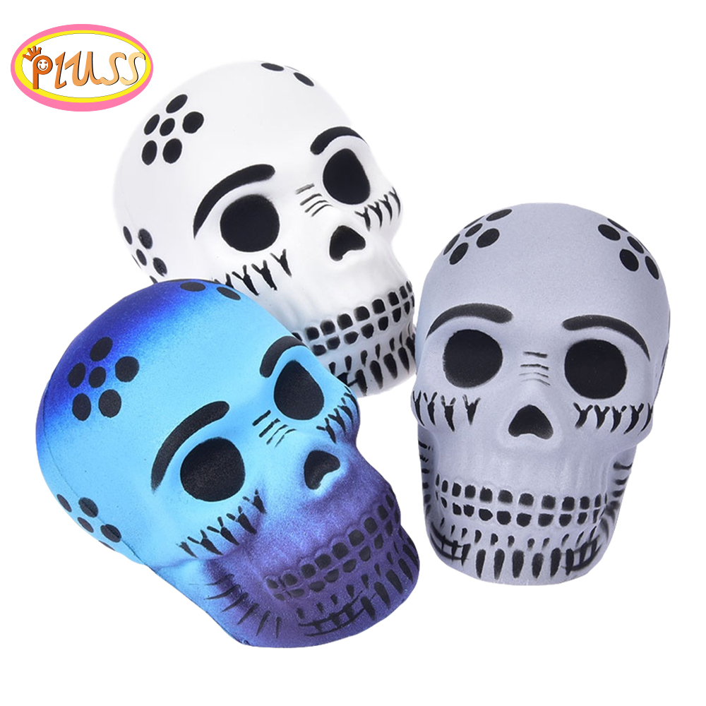Halloween Toys Skulll Scented Squishies Slow Rising Soft Squeeze Toys Stress Relief Fun For Kid Xmas Gift Toy