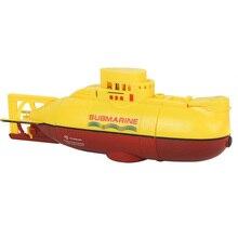 Мини Rc Подводная лодка корабль 6Ch высокоскоростная радиоуправляемая лодка модель электрическая детская игрушка