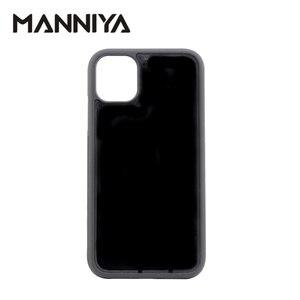 Image 2 - MANNIYA için iphone 11/11 pro/11 pro max boş oluk kauçuk TPU + pc telefon kılıfı Ücretsiz Kargo! 100 adet/grup