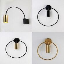 Lámpara de pared moderna de brazo largo ajustable para lectura, lámpara LED de pared negra Vintage Flexible giratoria de 360 grados
