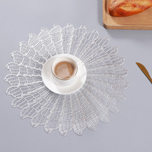 цена на Portable Elegant Durable High-quality Round Shape Concise Solid Color Table Placemat Milk Coffee Cup Mat