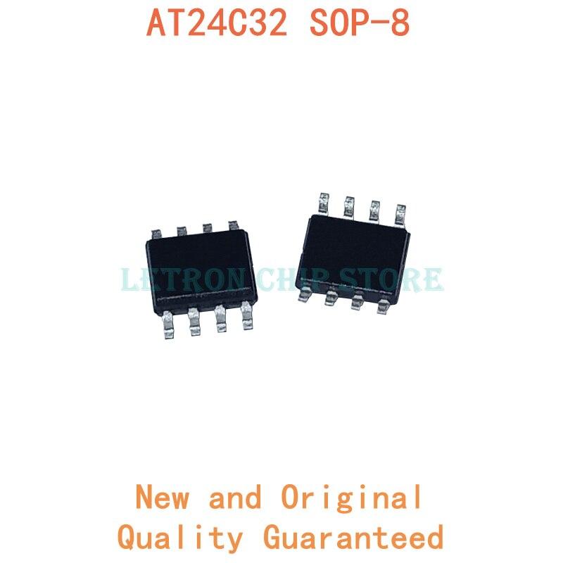 10 шт. AT24C32 SOP8 AT24C32AN SOP-8 AT24C32N SOP 24C32 SOIC8 24C32AN SOIC-8 24C32N SMD новый и оригинальный чипсет IC