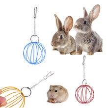 1PC Mini Stainless Steel Pet Hay Manger Food Ball Rabbit Hamster Grass Ball Rack Feeder