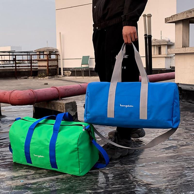 Fashion Multicolor Travel Sport Gym Bag Canvas Fitness Training Dry Wet Pouch Yoga Big Capacity Handbag Outdoor Luggage Bags