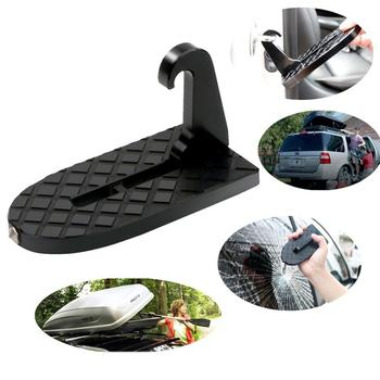 Car Assist Pedal Easy Access to Car Roof Vehicle Hooked Slam Latch Doorstep with Safety Hammer Function CSV