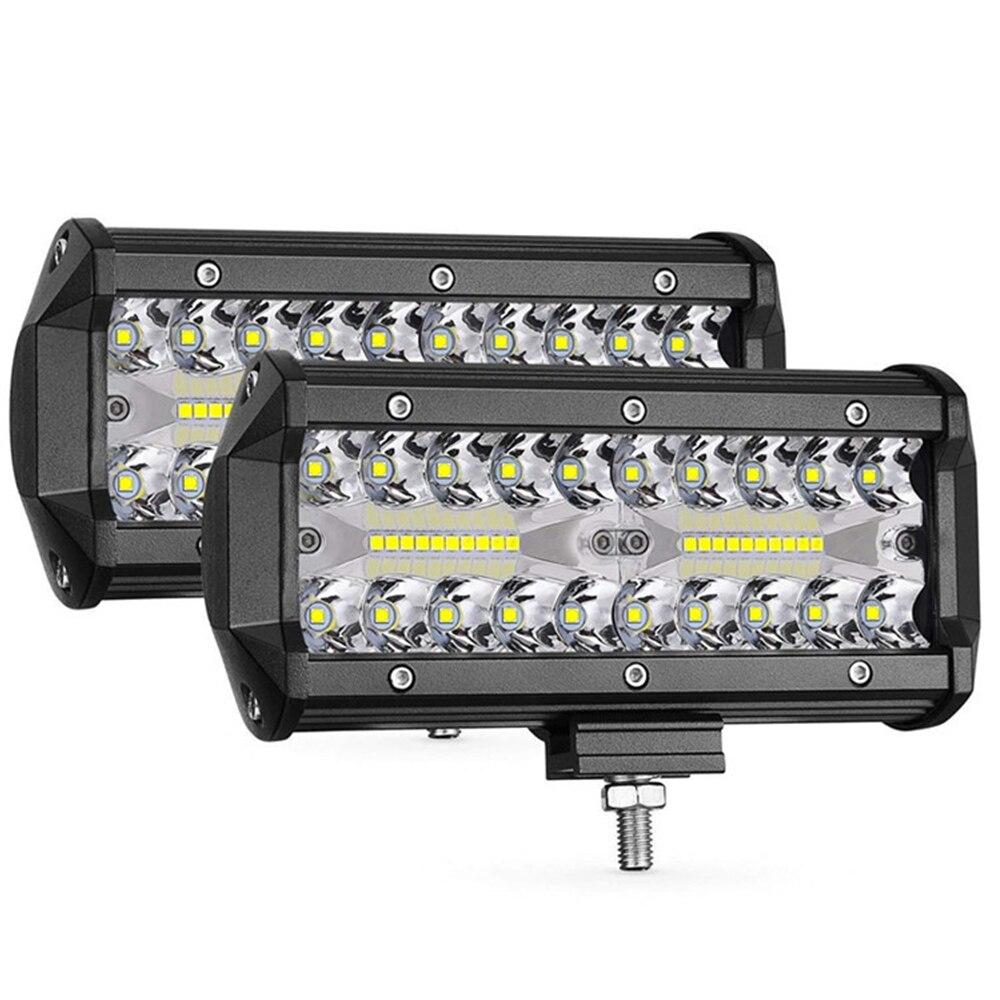 1 шт./компл. 7 дюймов 400w длинная полоса для бездорожья, устанавливаемый на крыше автомобиля светильник лампа заливающего света Автомобильный...