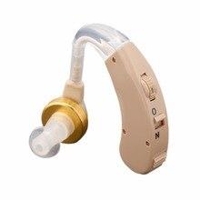Малый слуховой аппарат усилитель звука слуховой аппарат Набор Регулируемый за ухом слуховое устройство усилитель звука уход за ухом F-168