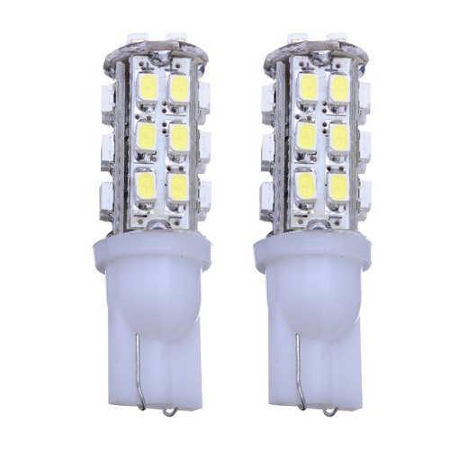 โปรโมชั่น! 2X501 3528 SMD 28 หลอดไฟ LED Light Night โคมไฟ Xenon รถสีขาวอัตโนมัติ 12V WEDGE โคมไฟเพดาน