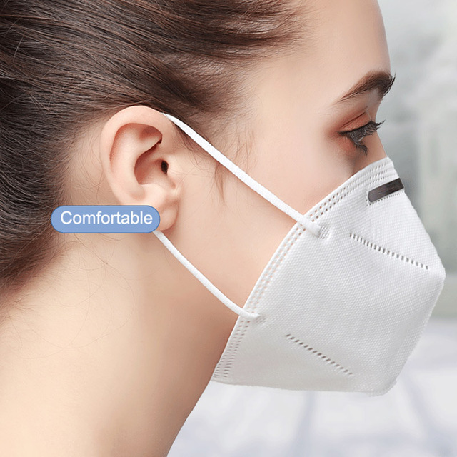20 Pcs FFP2 KN95 Masks 4 Layers Filter Dust Mouth PM2.5 Face Mask Flu Personal Protective Health Care Mask Fast Shipping 1