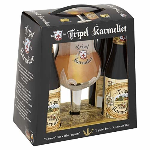 Tripel Karmeliet Geschenkbox 4x330ml 8,5%Vol. + 1 Bierglas