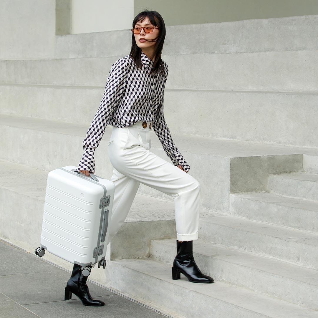 90FUN Suitcase 20inch Travel 39L Aluminum Alloy Password Universal Luggage Case mala de viagem