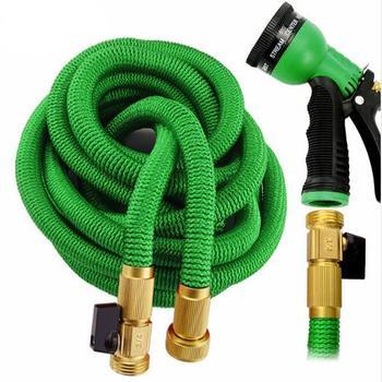 Metal Water Spray 8 Type Mode Garden Watering Strong Water Spray Gun Set Garden Hose Pipe Nozzle Connector Outdoor Watering