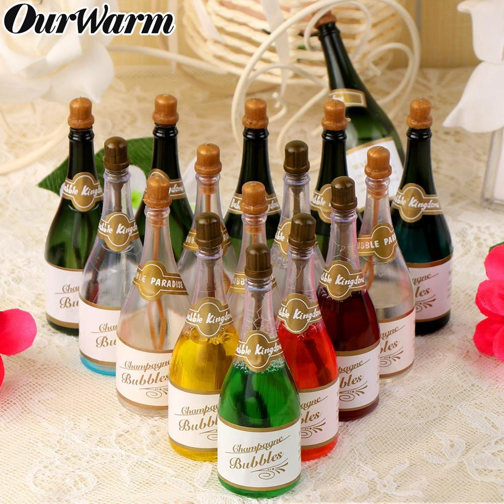 OurWarm 12pcs Champagne Style Soap Water Bottles Party Favor Supplies Guest Gifts Wedding Decoration Champagne Bubbles Bottle