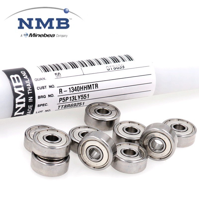 50pcs Original NMB Minebea 624ZZ  R-1340HH 4*13*5mm High Speed Miniature Ball Bearing 4x13x5 Wire Cut Bearings