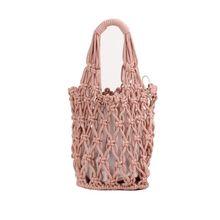 Special Type Premium Quality Women Girls Fish Net Bucket Hollow Bags Summer Beach Handbags Weave Tote Purse Shoulder